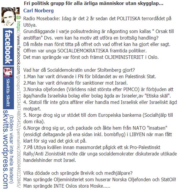 Hogern maste forsta att breivik agerade politiskt