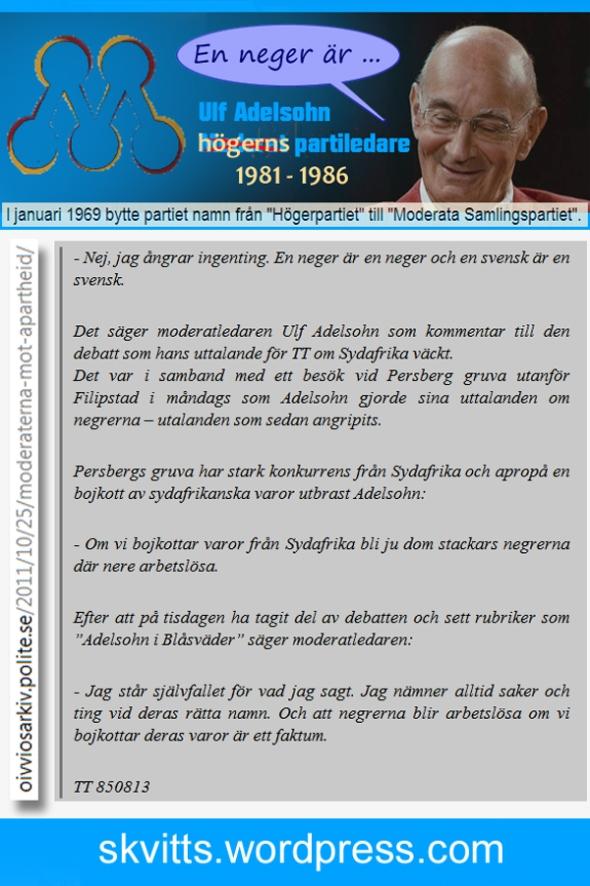 Ulf Adelsohn o negrer