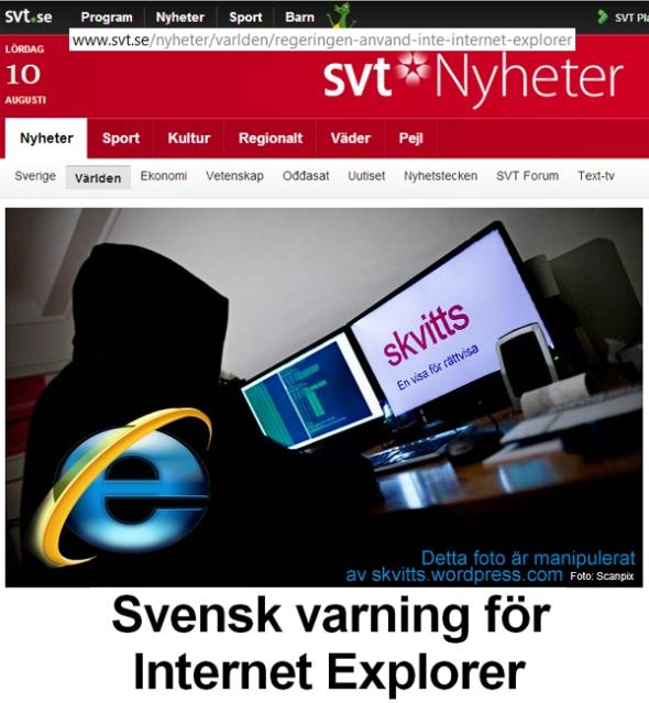 IE-varning